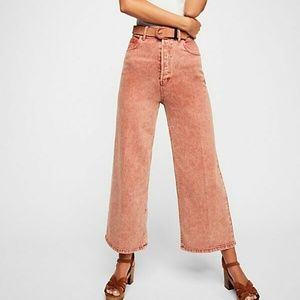 👖Free People👖Wales Wide Leg Cropped jeans